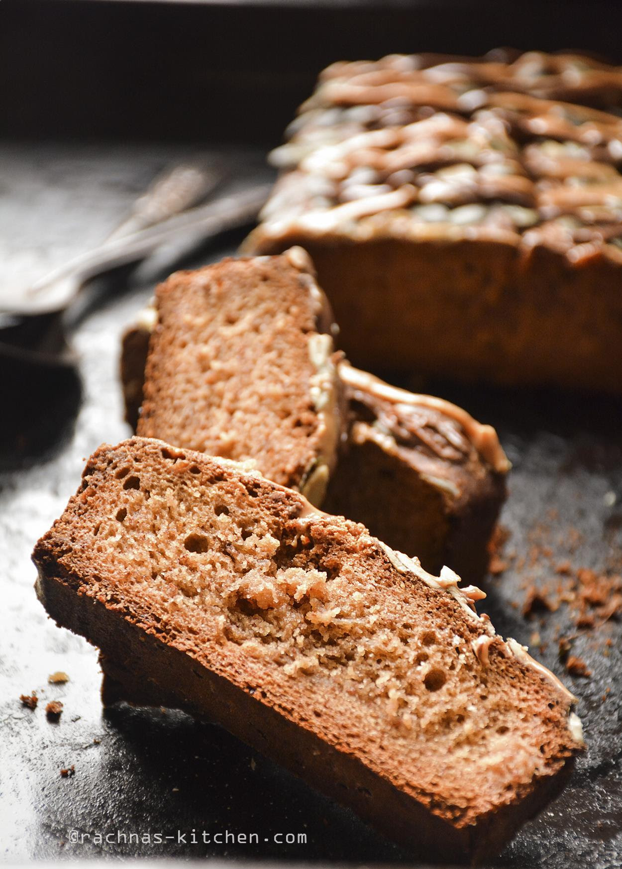 Eggless banana bread recipe | whole wheat banana bread