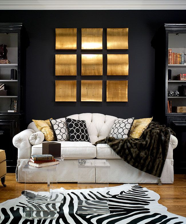 desire to inspire - desiretoinspire.net. Black, white, Gold, Black Walls