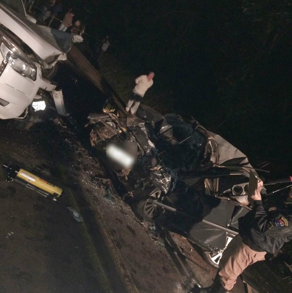 Duas pessoas morreram e duas ficaram gravemente feridas em  (Foto: Arquivo pessoal)