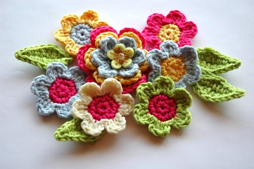 Summer Applique Flowers