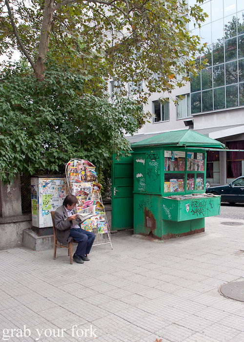 Newsstand in Plovdiv Bulgaria