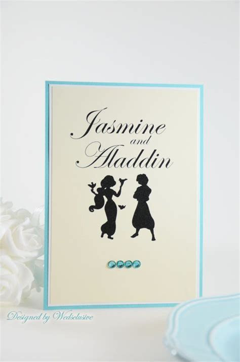 Disney Couple Table Cards, Disney theme weddings, Fairy