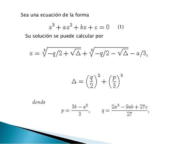 Fisica Ecuaciones De Tercer Grado