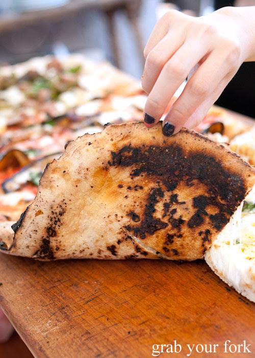 wood-fired pizza base at via napoli lane cove