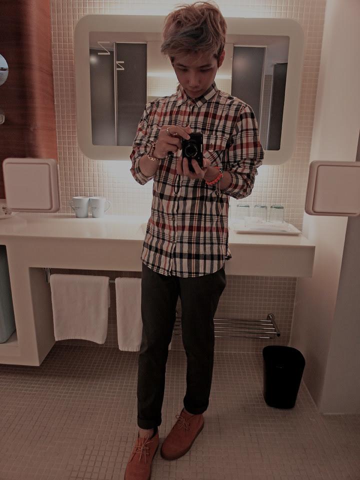 typicalben mirror shot at Just Sleep Hotel (Xi Men Ding)