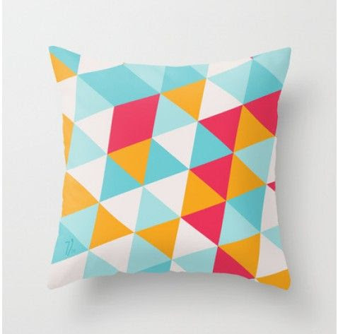 Tropical Triangles Cushion
