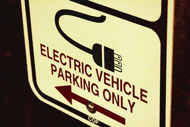 electric vehicle parking only!