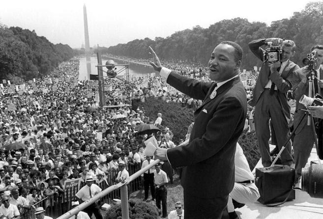 Martin Luther King durante su discurso en Washington en 1963 | AFP