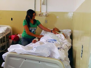 Paciente cardiopata não recebe visita regular do especialista no Hospital de São José de Mipibu (Foto: Ricardo Araújo/G1)