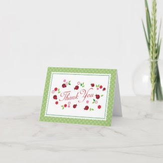Lady Bug Thank You Card