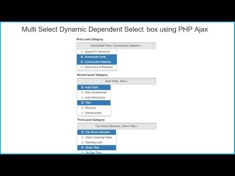 Multi Select Dynamic Dependent Select box using PHP Ajax | Webslesson