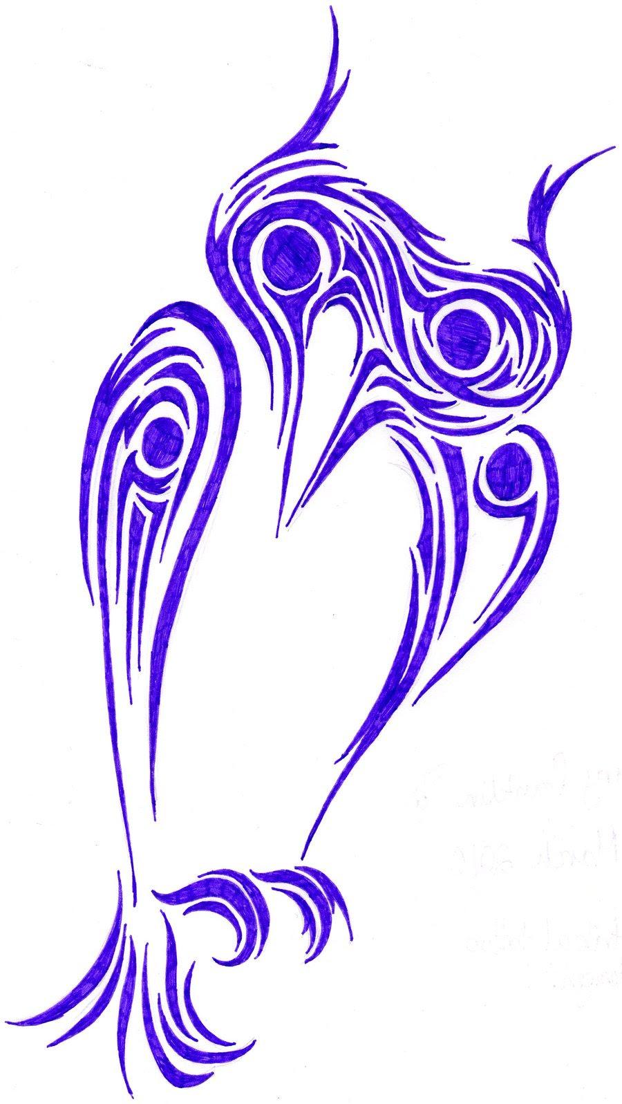 Sitting Tribal Owl Tattoo Design Tattooshuntcom