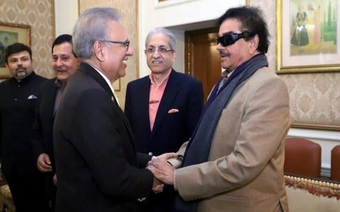 شتروگھن سنہا کی پاکستان کے صدر سے لاہور میں ملاقات