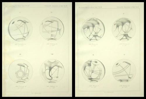 Particolari della superficie di Marte dalla quarta Memoria, 1883-1884 Giovanni Schiaparelli