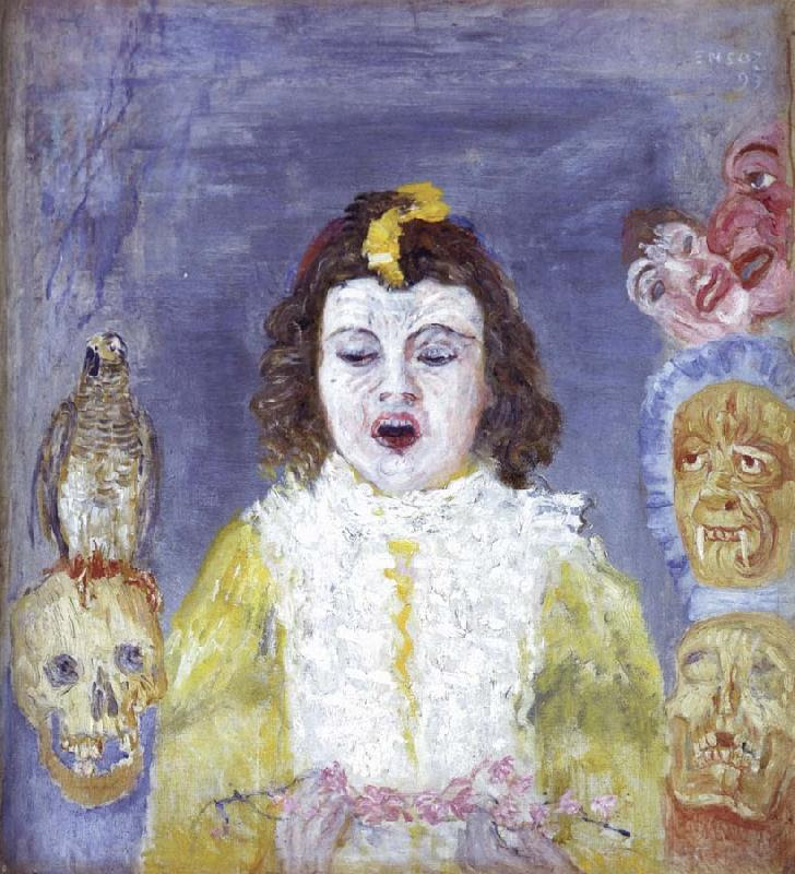 James Ensor The Girl with Masks