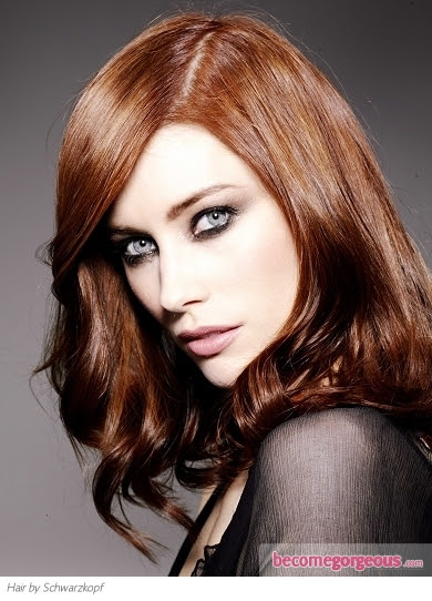 Pictures : Red Hair Color Shades  Dark Copper Red Hair Color