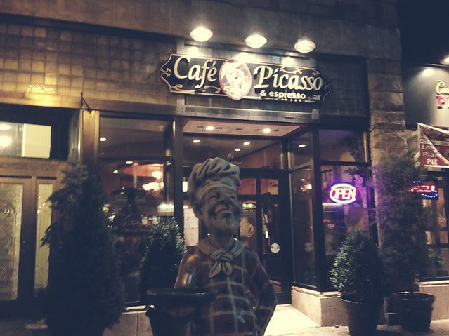 Dinner at Cafe Picasso.