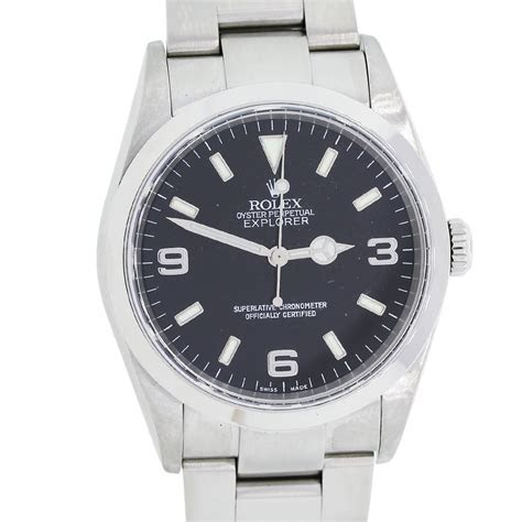 rolex oyster perpetual explorer   stainless steel