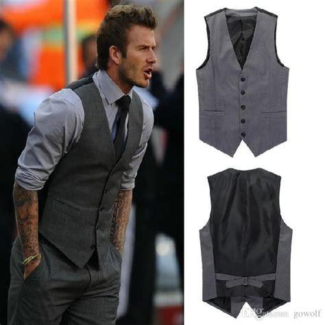 leisure mens suit vest wedding banquet gentleman