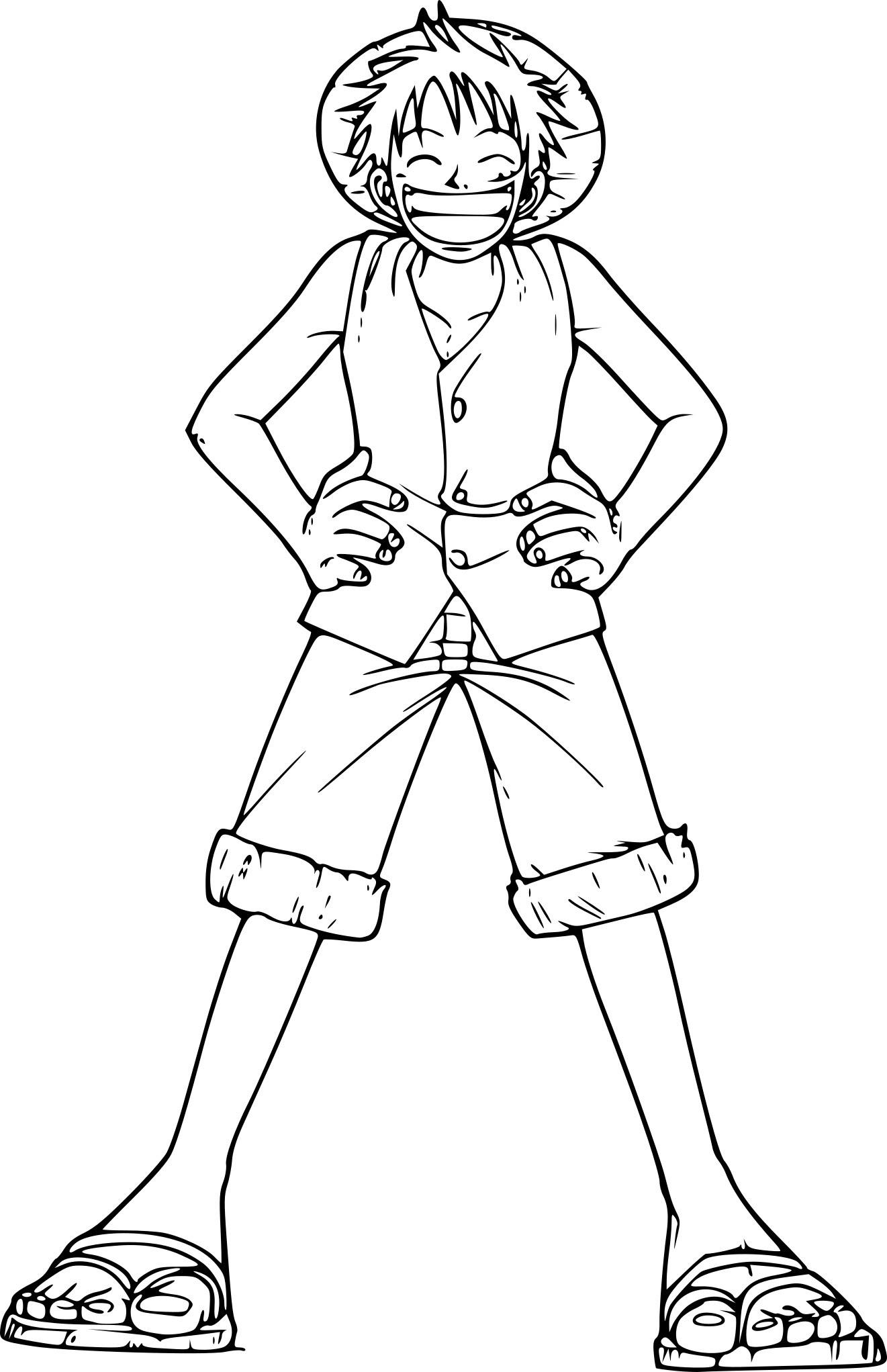 Coloriage de Luffy e Piece