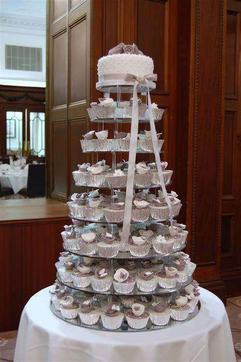 iced: Victorian Lilac Cupcake Wedding Cake