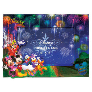 Mickey Mouse And Gang Fireworks Magnetic Photo Frame Monogram