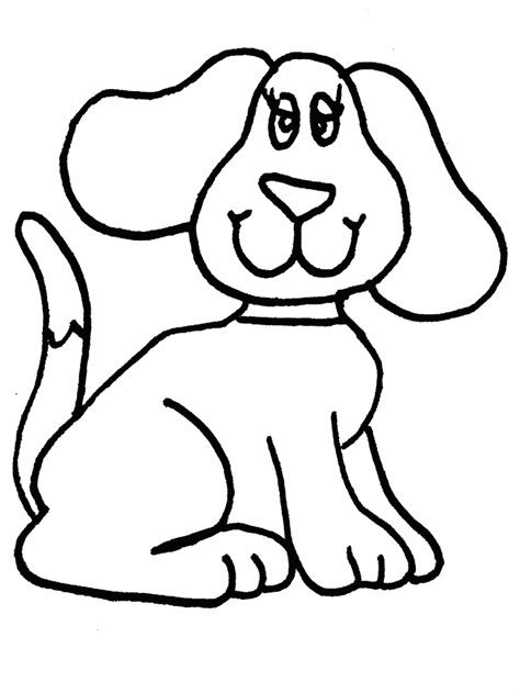 simple animal coloring pages simple dog coloring page