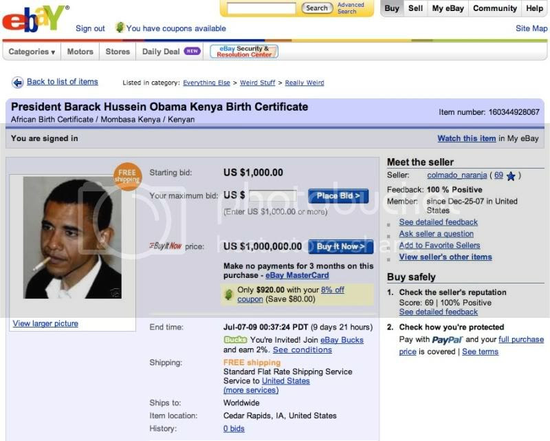 ebay obama