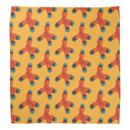 Chemistry Pattern Geek Orange Methane Molecule Bandana