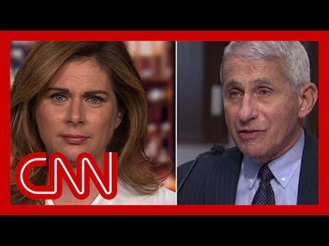 Erin Burnett: Fauci opens his mouth with facts, Trump does not