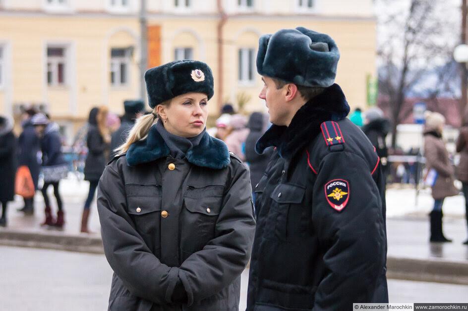 Олимпийский огонь в Саранске. Полицейские