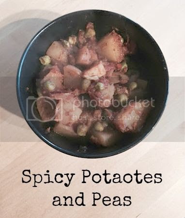 spicy potatoes and peas
