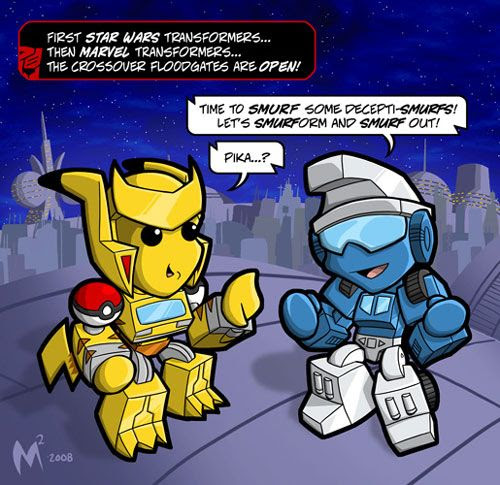Pokebee and Smurfimus Prime.