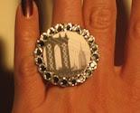 New York Black and White Swarvoski Ring