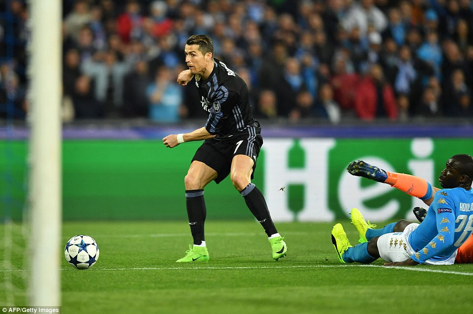 Real Madrid looked certain to draw level on the night as Cristiano Ronaldo rounded Pepe Reina after 29 minutes