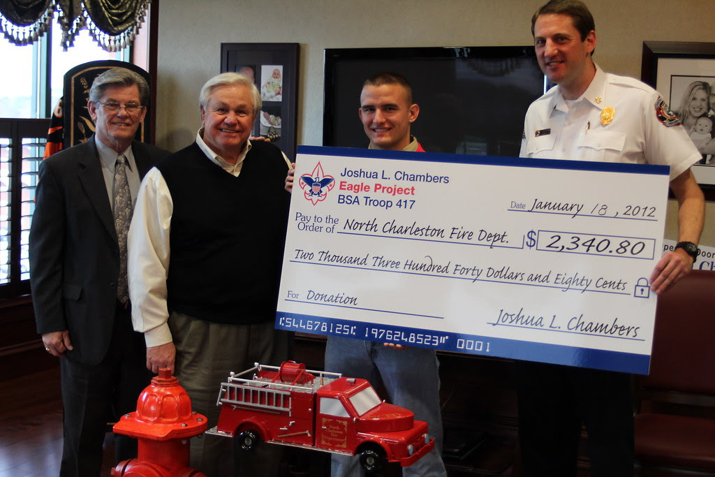 Eagle Scout donates over $2300 to Fire Department