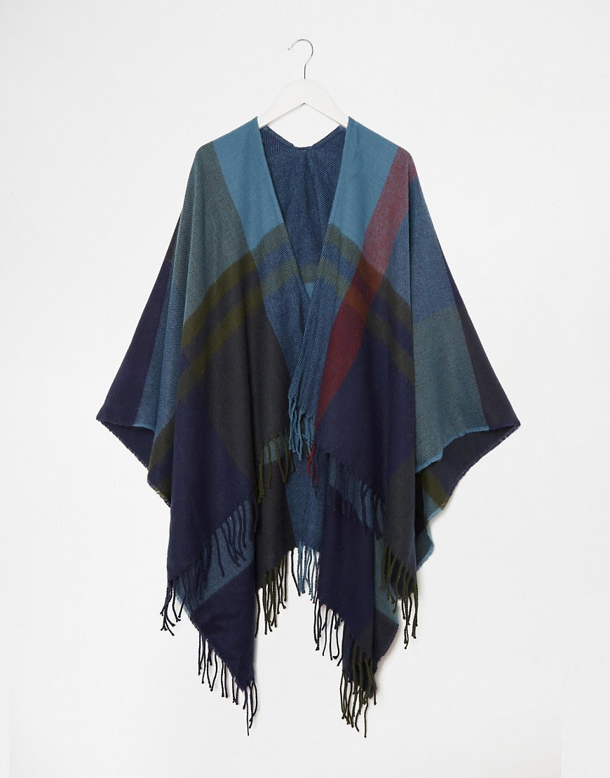 Image 2 of Esprit Colour Block Check Festival Cape