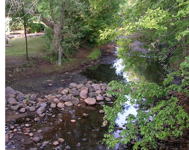 Creek is low