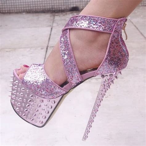 Sexy Gorgeous Colorful Glitter Studded Spike Ankle Wedding