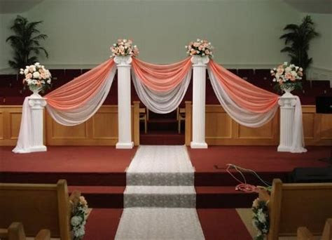 pictures of wedding pillars decorated   Home Chair Covers