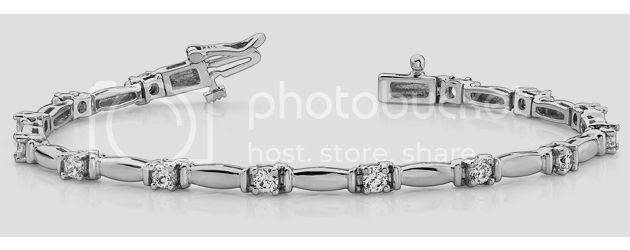 shiny column link diamond bracelet anjolee