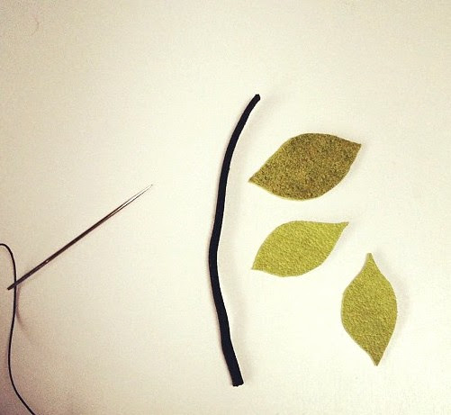 Thread and leaves