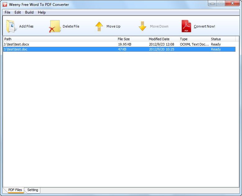 Weeny Free Word To PDF Converter