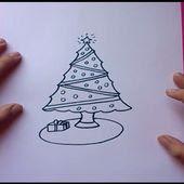 Como Dibujar Un Arbol De Navidad Paso A Paso Pintaycreaover Blogcom