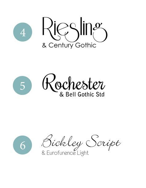 Design Fixation: {Typeface Tuesday} Wedding Font Combinations