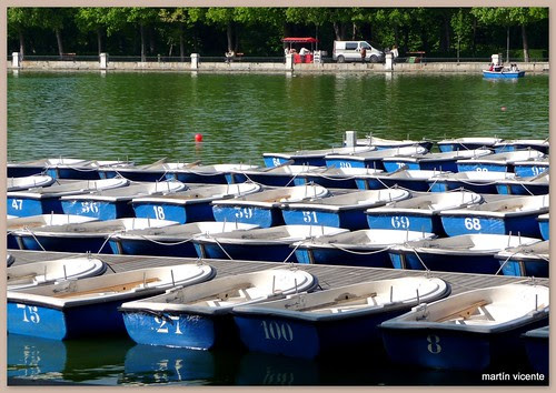 Barcas en el Parque del Retiro