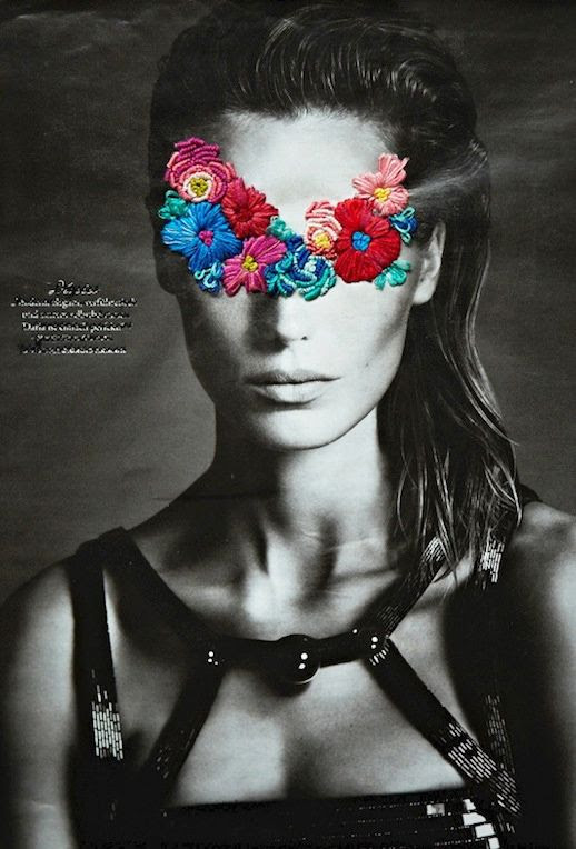 LE FASHION BLOG ARTIST JOSE ROMUSSI EMBROIDERED EDITORIALS DARIA WERBOWY FASHION ART FLORAL EMBROIDERY BLACK AND WHITE PHOTOS CUT OUT BEADED EMBELLISHED DRESS SLICKED BACK HAIR 2 photo LEFASHIONBLOGARTISTJOSEROMUSSIEMBROIDEREDEDITORIALSDARIAWERBOWY2.jpg