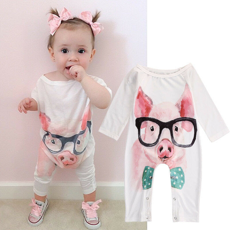 cute newborn infant baby girl onepiece romper jumpsuit