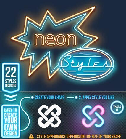 neon light logos design set  vector  encapsulated