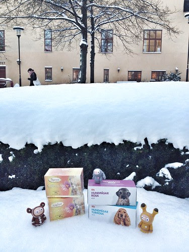 saffron tea & dog poo bags